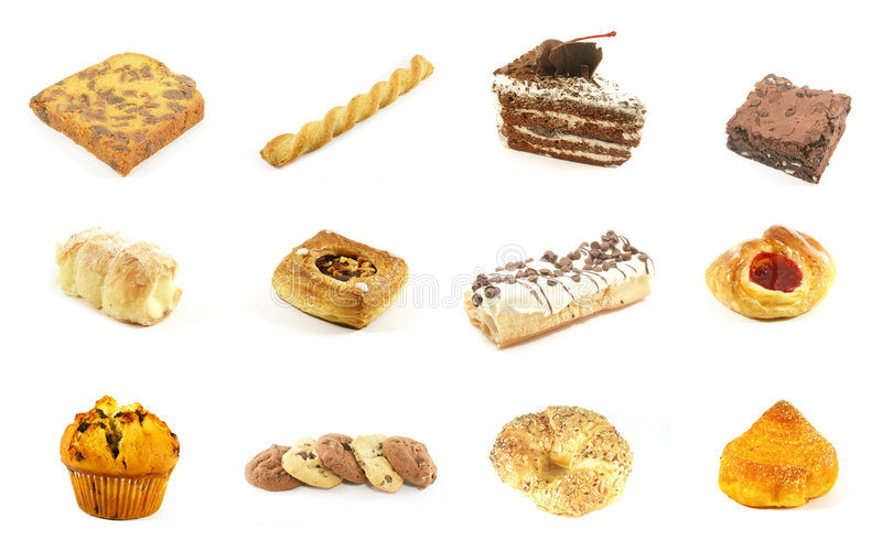 Baked Goods Series 1. Isolated on a White Background royalty free stock image