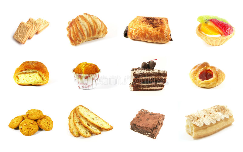 Baked Goods Series 2. Isolated on a White Background royalty free stock photo