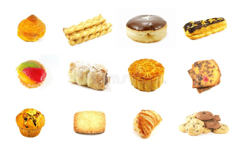 Baked Goods Series 3. Isolated on a White Background royalty free stock image