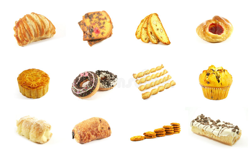 Baked Goods Series 4. Isolated on a White Background stock photo
