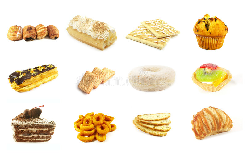 Baked Goods Series 6. Isolated on a White Background royalty free stock photos