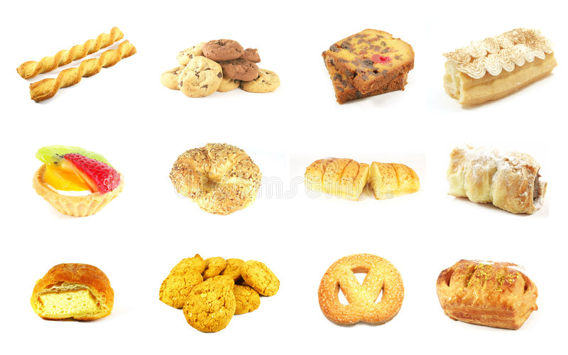 Baked Goods Series 7. Isolated on a White Background royalty free stock photography