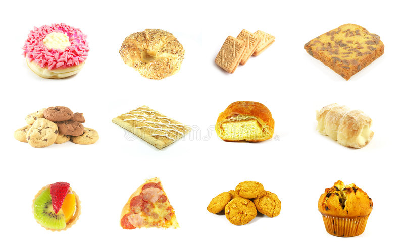 Baked Goods Series 9. Isolated on a White Background royalty free stock photography