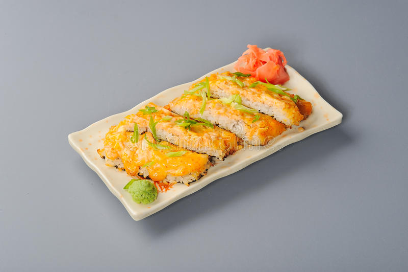 Download Baked japan rice2 stock image. Image of sauce, mayo, maki - 22446197