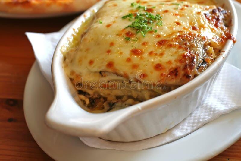 Baked lasagna stock photo