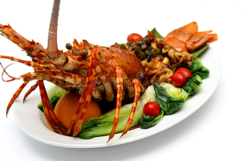 Baked Lobster royalty free stock photos