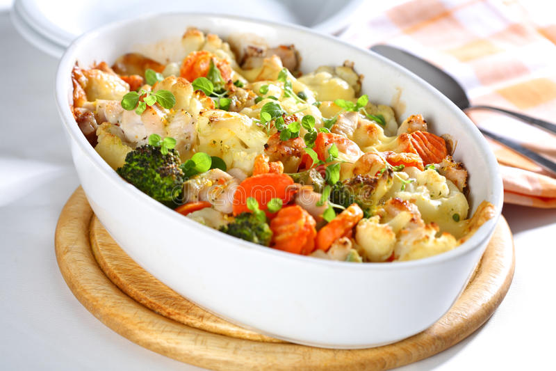 Baked mixed vegetable stock photos