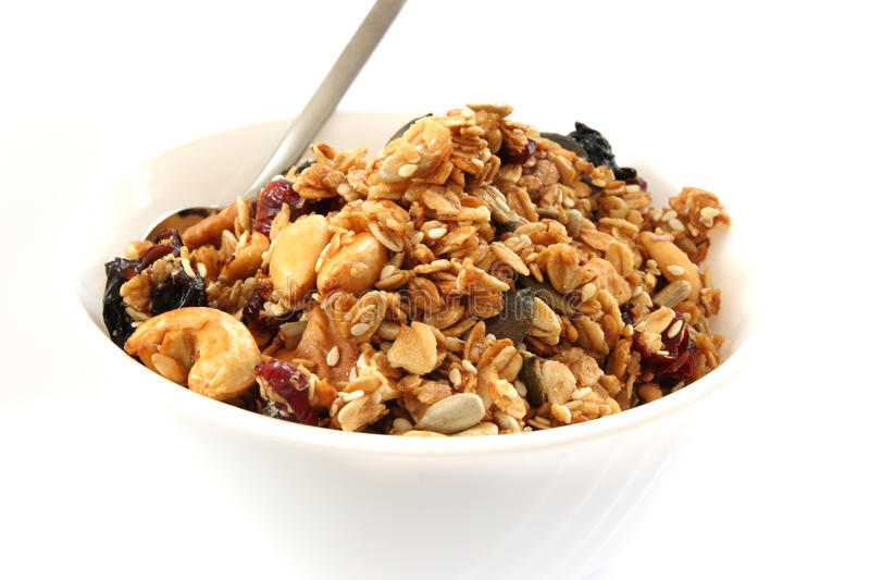 Baked Muesli In Bowl Stock Images