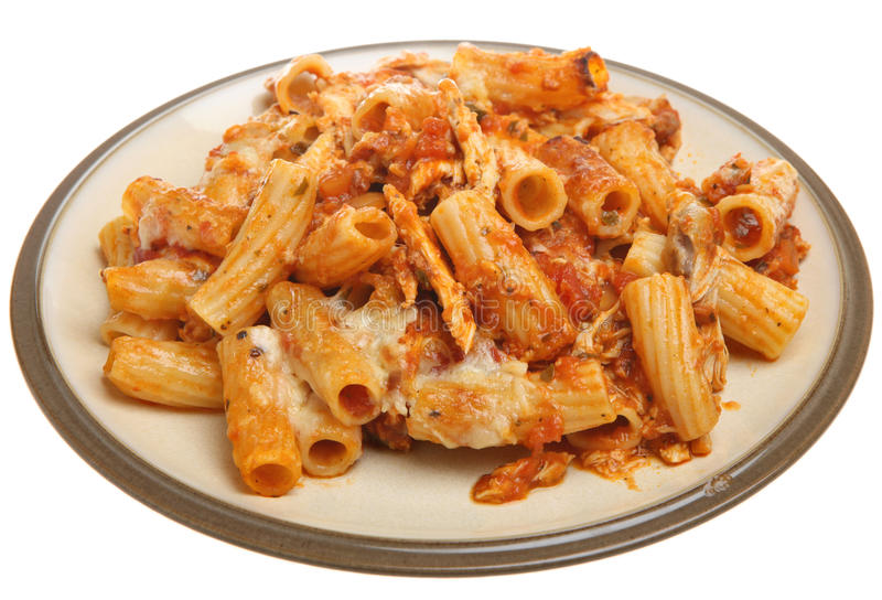 Baked Pasta With Chicken And Cheese Royalty Free Stock Photo