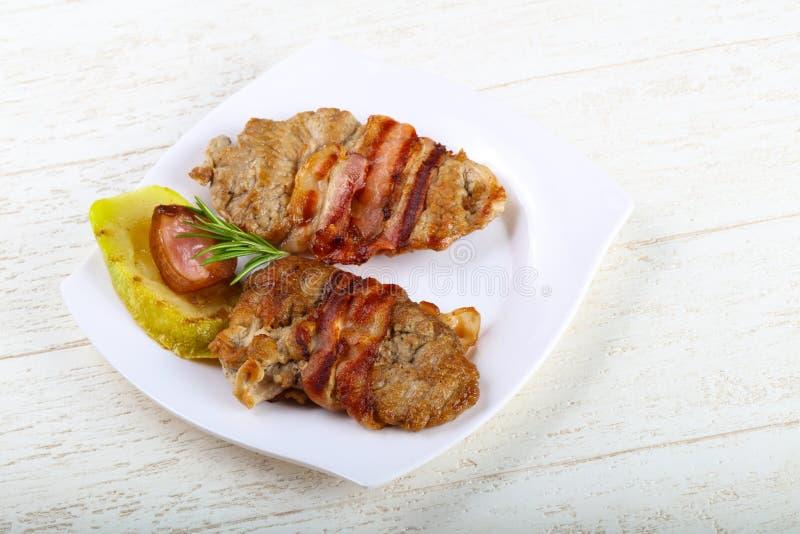 Baked pork stock images