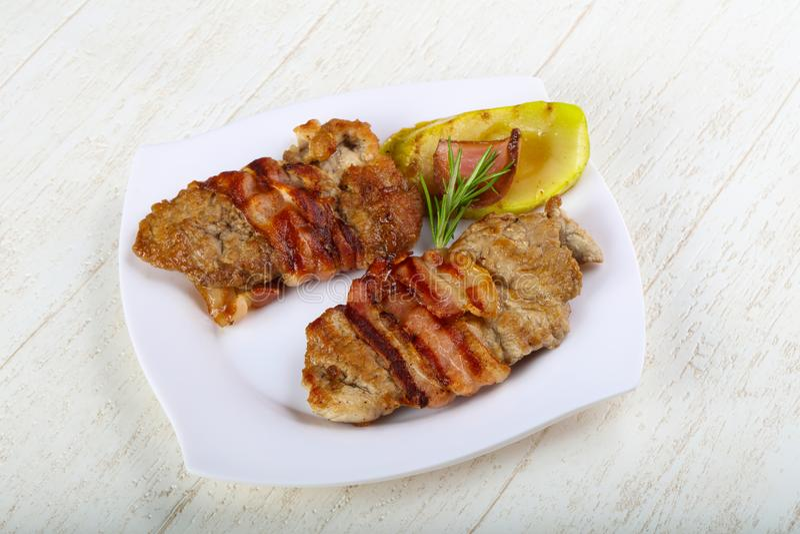 Baked pork royalty free stock photo