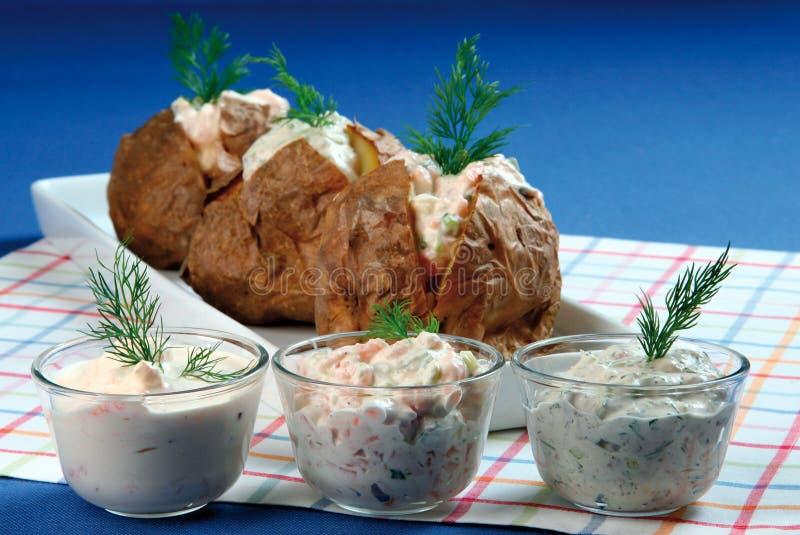 Baked potato stock photos