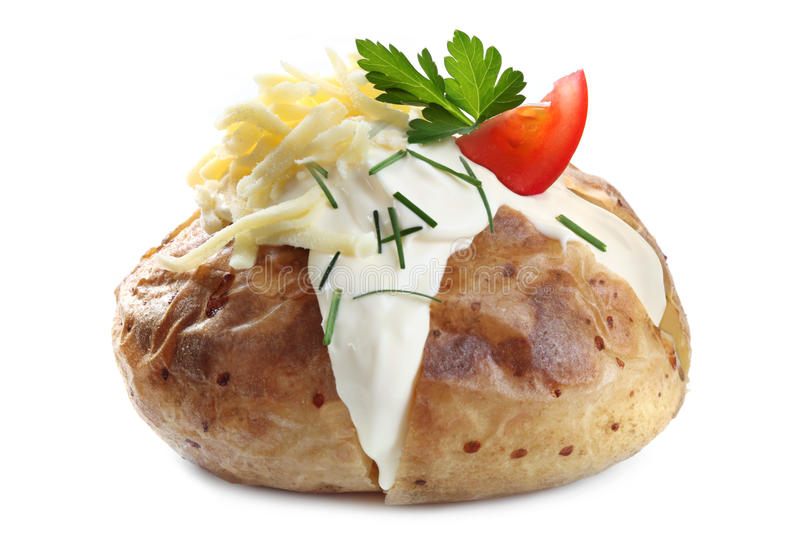Download Baked Potato stock image. Image of colour, isolated, chives - 11444827