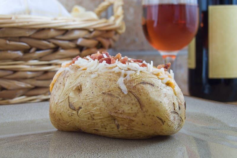 Download Baked potato stock photo. Image of vegetable, potato, plate - 8432156