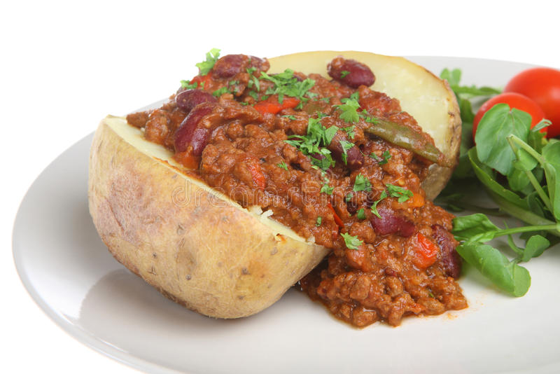 Download Baked Potato With Chilli Con Carne Stock Image - Image of carne, savory: 10351681