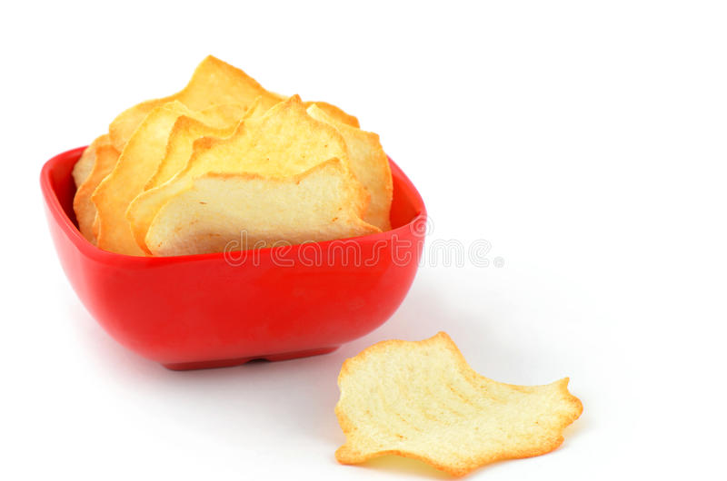 Download Baked potato chips stock photo. Image of diet, portion - 27827594