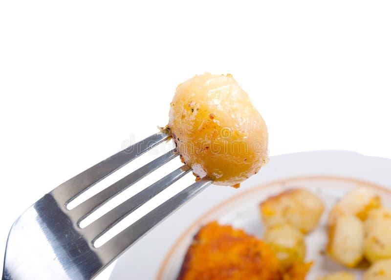Baked potatoes,macro, stock photography