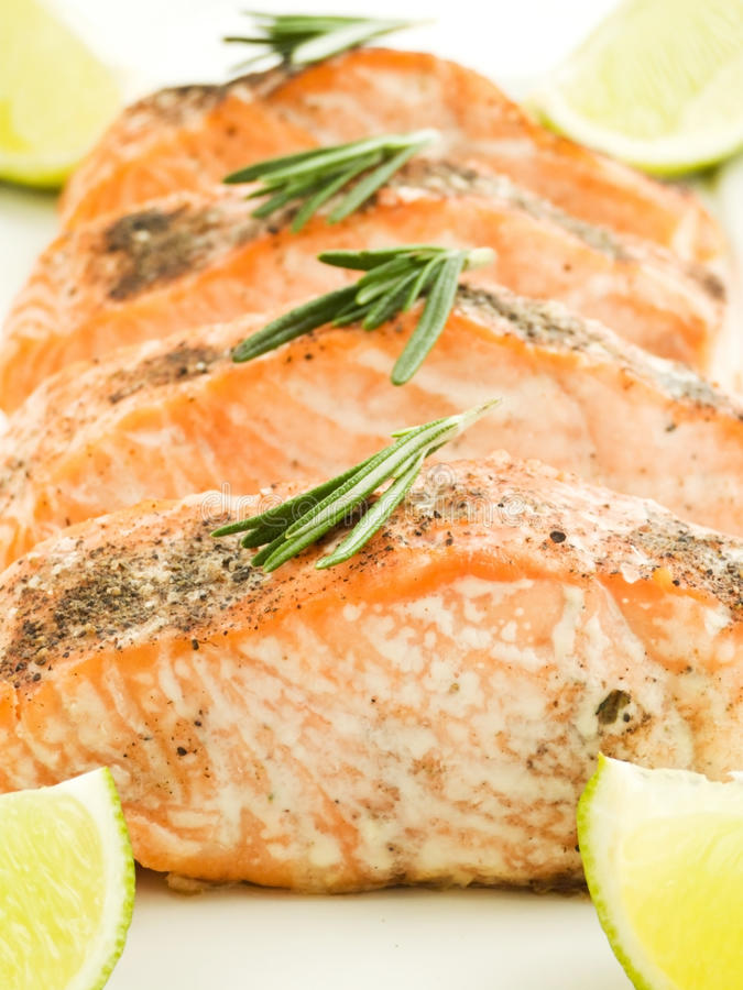 Download Baked Salmon Stock Photo - Image: 13887830
