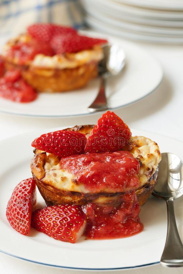 Download Baked Strawberry Ricotta Dessert Stock Image - Image: 30859031