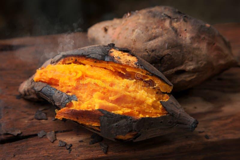 Baked sweet potato royalty free stock photos