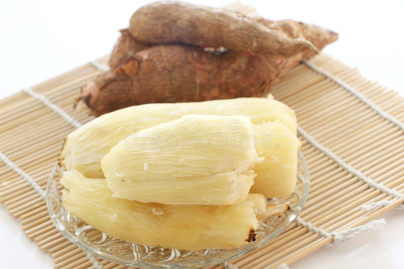 Baked tapioca (Cassava root). Asian Cassava root or Tapioca, steamed or baked some prefer to extract the starch and make pudding or cake stock photography