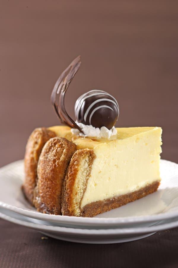 Baked Tiramisu Cheese Cake Stock Image