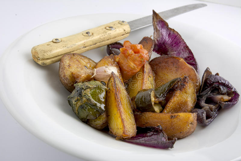 Baked vegetable dish royalty free stock image