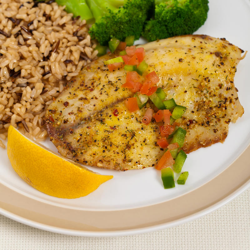 Baked white fish fillet stock image image of fresh for Fish and broccoli diet