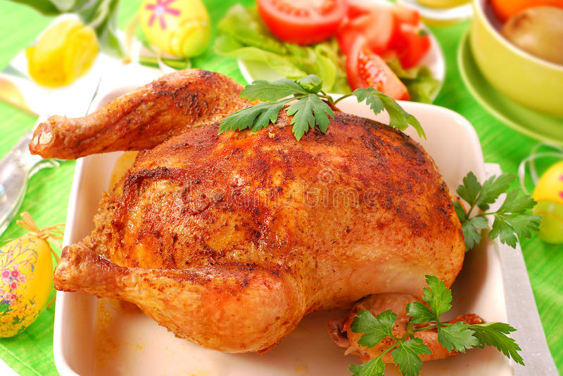 Download Baked whole chicken stock photo. Image of warm, whole - 12718694