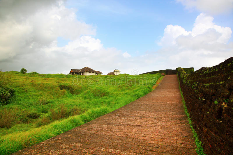 Bakel fort, Kerala,India. Bekal Fort, is the largest fort in Kerala, situated at Kasaragod district, North Kerala. spreading over 40 acres royalty free stock images