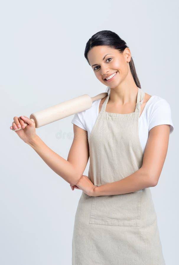Baker με την κυλώντας καρφίτσα στοκ εικόνα με δικαίωμα ελεύθερης χρήσης