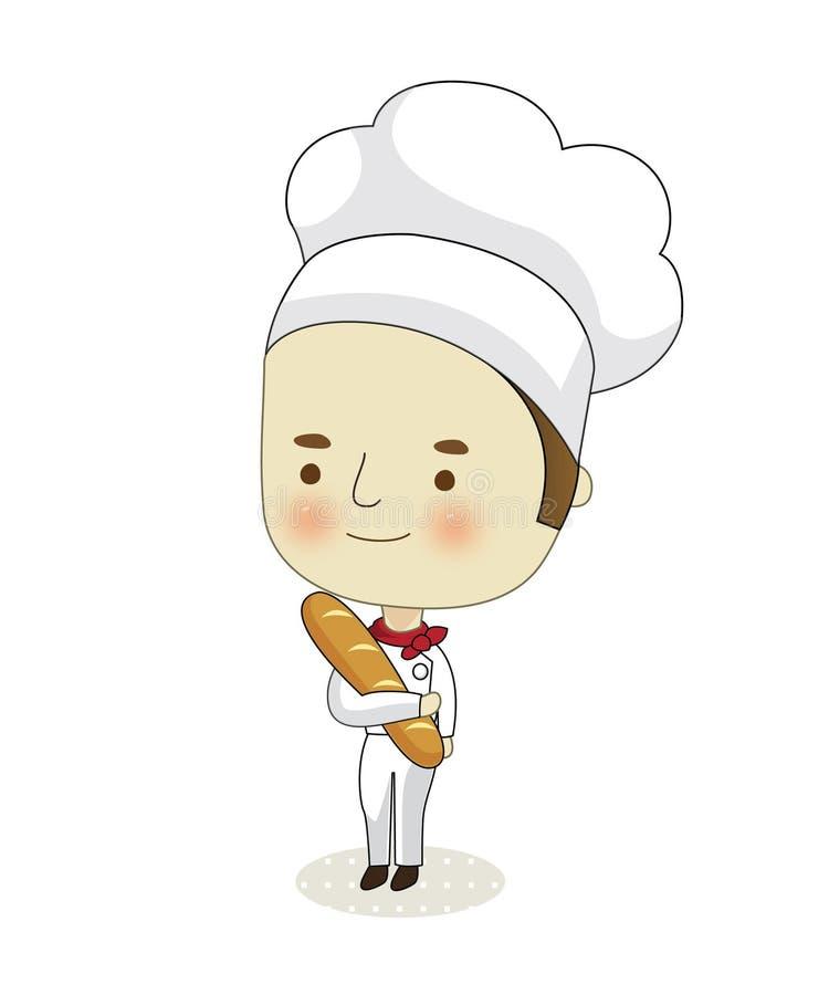 Download Baker stock vector. Image of male, bread, cartoon, illustrator - 15911318