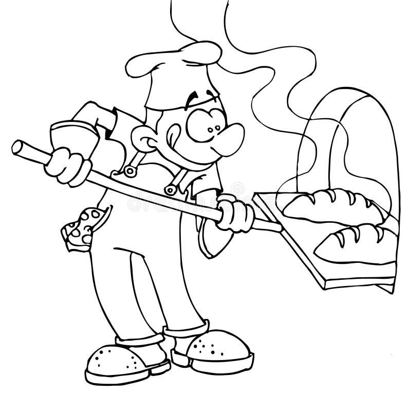 baker royalty ilustracja