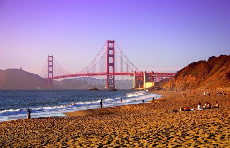 Baker Beach, San Francisco stock photo