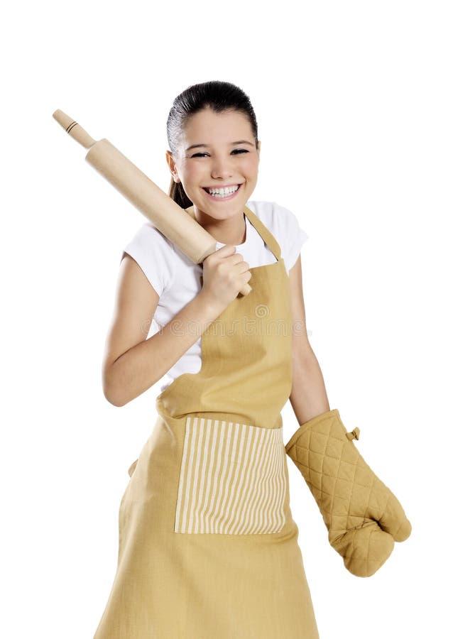 Baker/Chef-kokvrouw stock fotografie