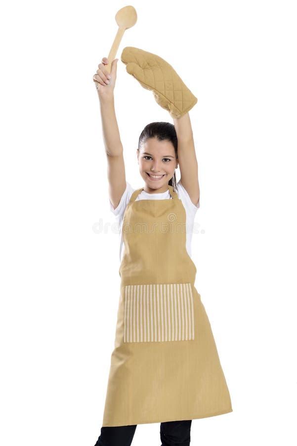 Baker/Chef-kokvrouw stock foto's