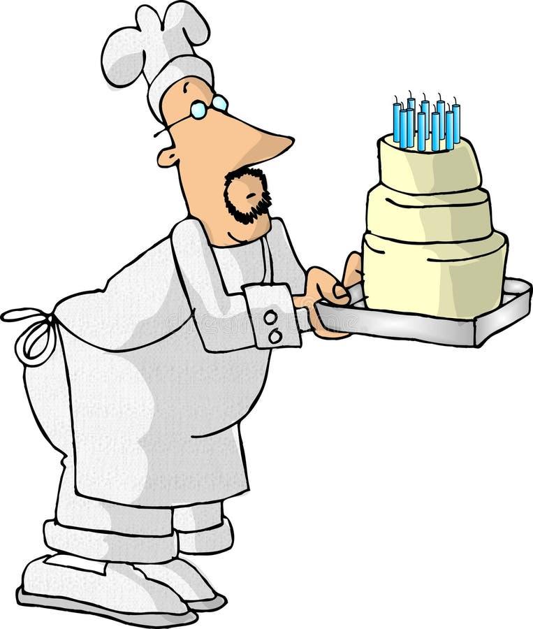 Download Baker ciasto ilustracji. Ilustracja złożonej z denny, piec - 31003