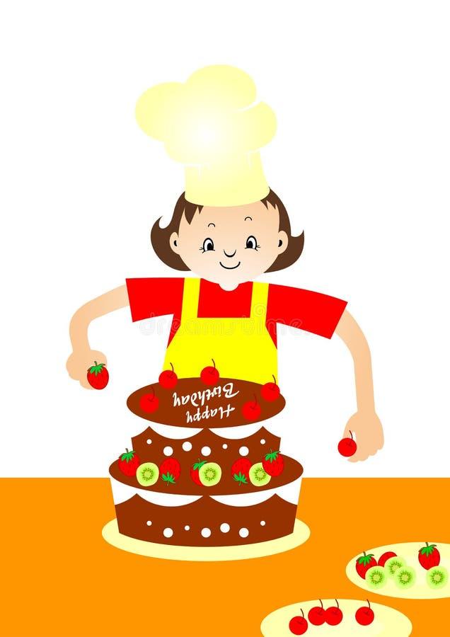 Baker de gâteau illustration libre de droits