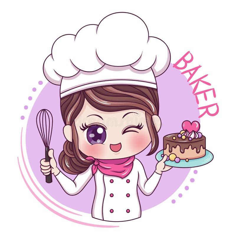 Baker_4 fêmea ilustração do vetor