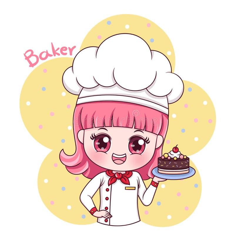Baker_3 femenino stock de ilustración