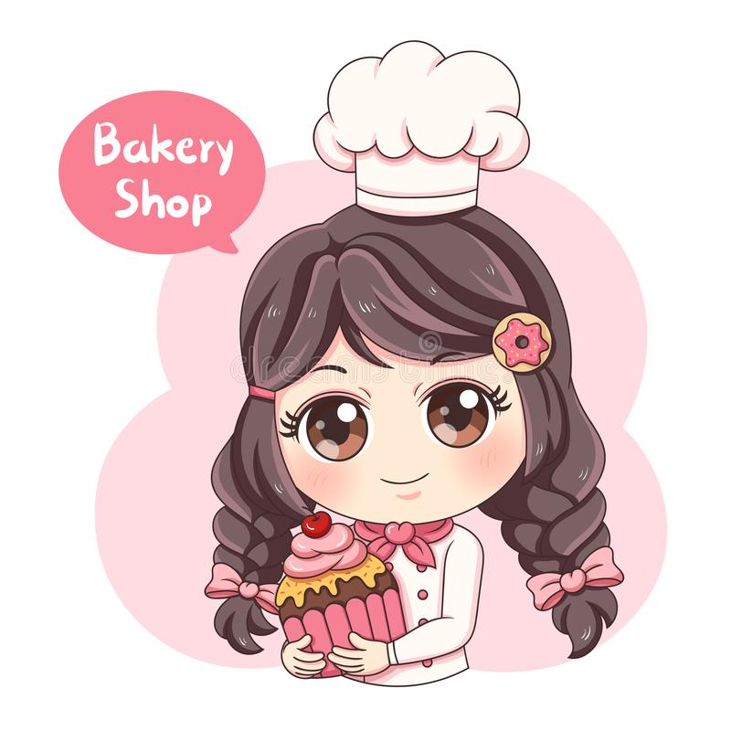 Baker_6 femenino stock de ilustración