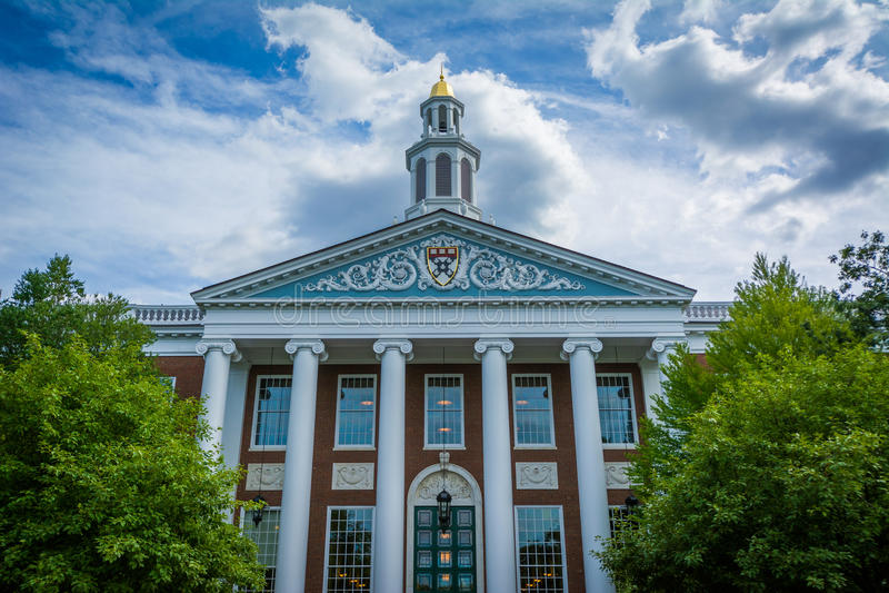 The Baker Library, at Harvard Business School, in Boston, Massachusetts. stock photography