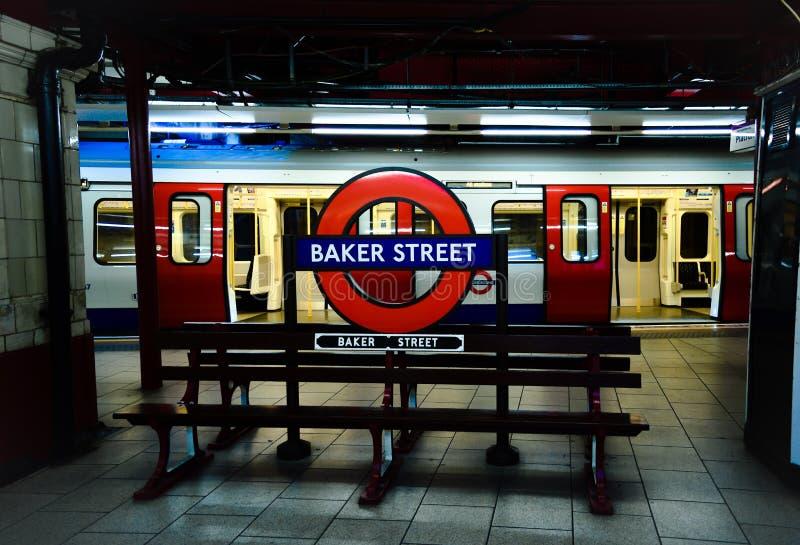 Baker Street Bench stock foto's