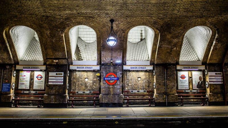 Baker Street Tube royalty-vrije stock afbeeldingen