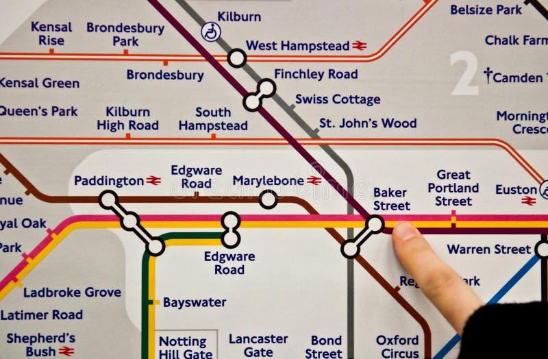 Baker Street Tube post stock fotografie