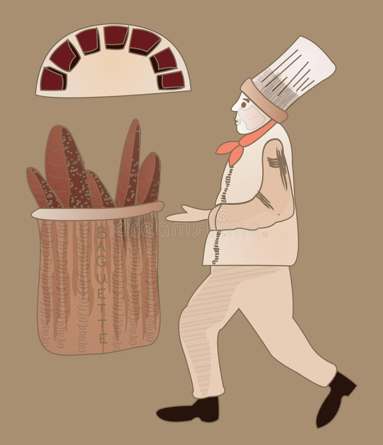 Download Baker stock illustration. Illustration of dough, cook - 30711425