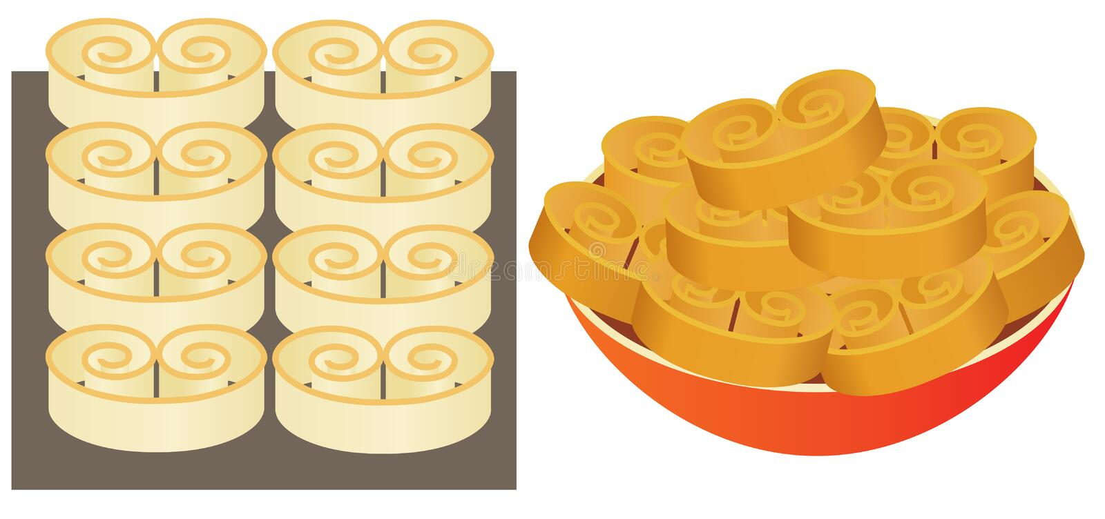 Download Bakery stock vector. Image of pastry, homemade, appetizer - 24461406
