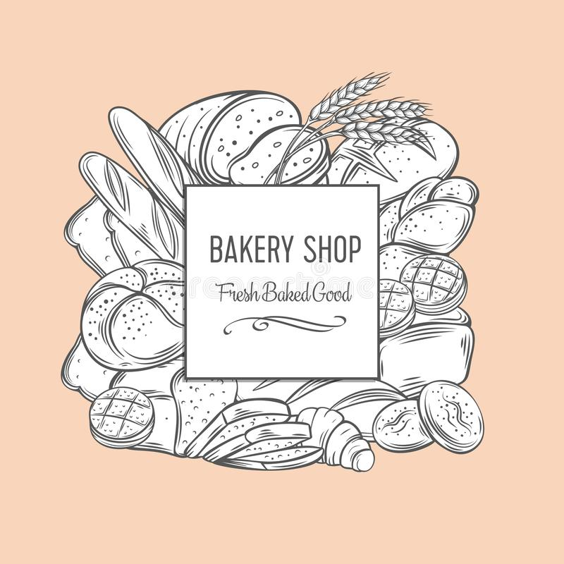 Bakery banner template royalty free stock images