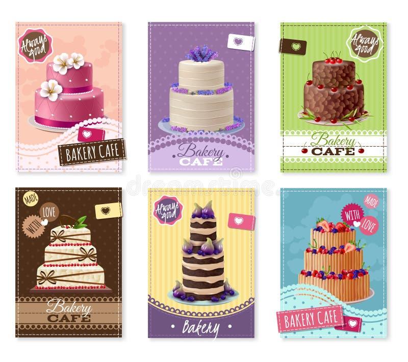 Bakery Banners Set stock illustration