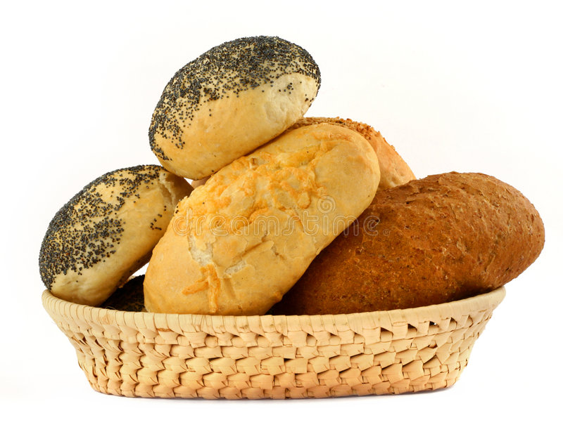 Bakery basket stock photography